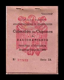 Cartilla Nº322679. Serie ZA. Terce-ra categoría. Segundo semestre 1951.